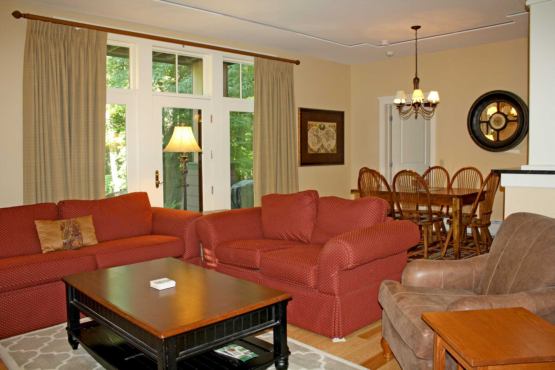 Living Room and Open Dining Room