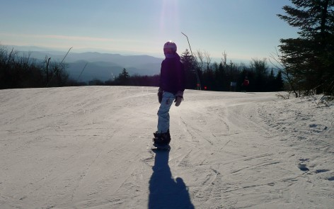 Snowboarding at Okemo