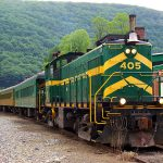 Scenic train rides on Green Mountain Railroad.