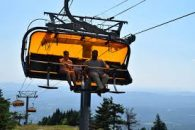 Scenic chairlift rides at Okemo Mountain.